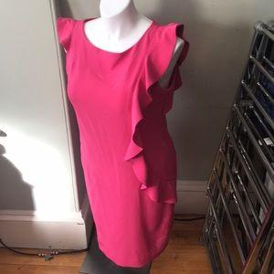 SL Fashions size 16 fuschia dress with ruffle